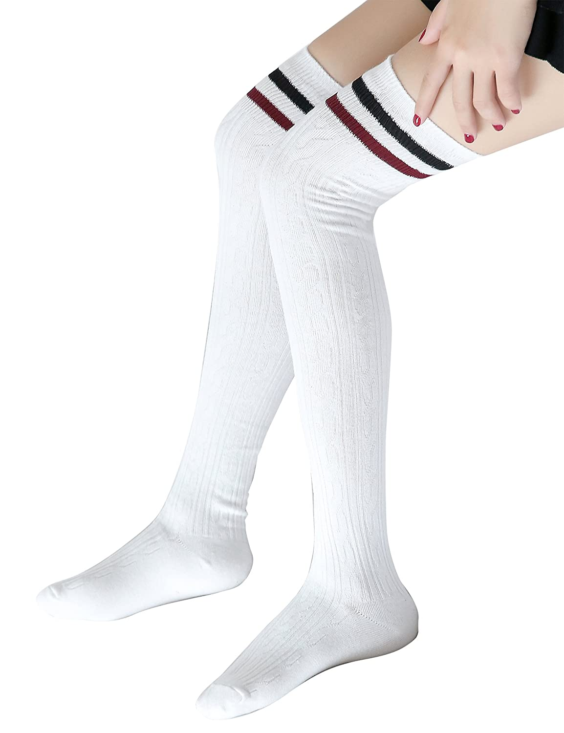HHei/_K Women Men Fashion Colorful Tube Socks Casual Printed Cotton Socks