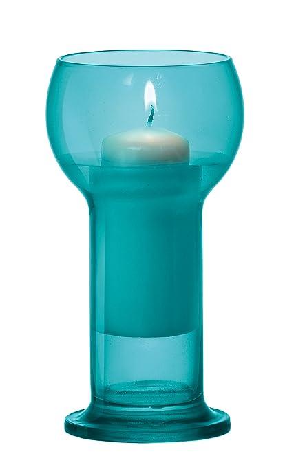 12 x botella de cristal, color turquesa, tamaño grande flotante portavelas y velas (