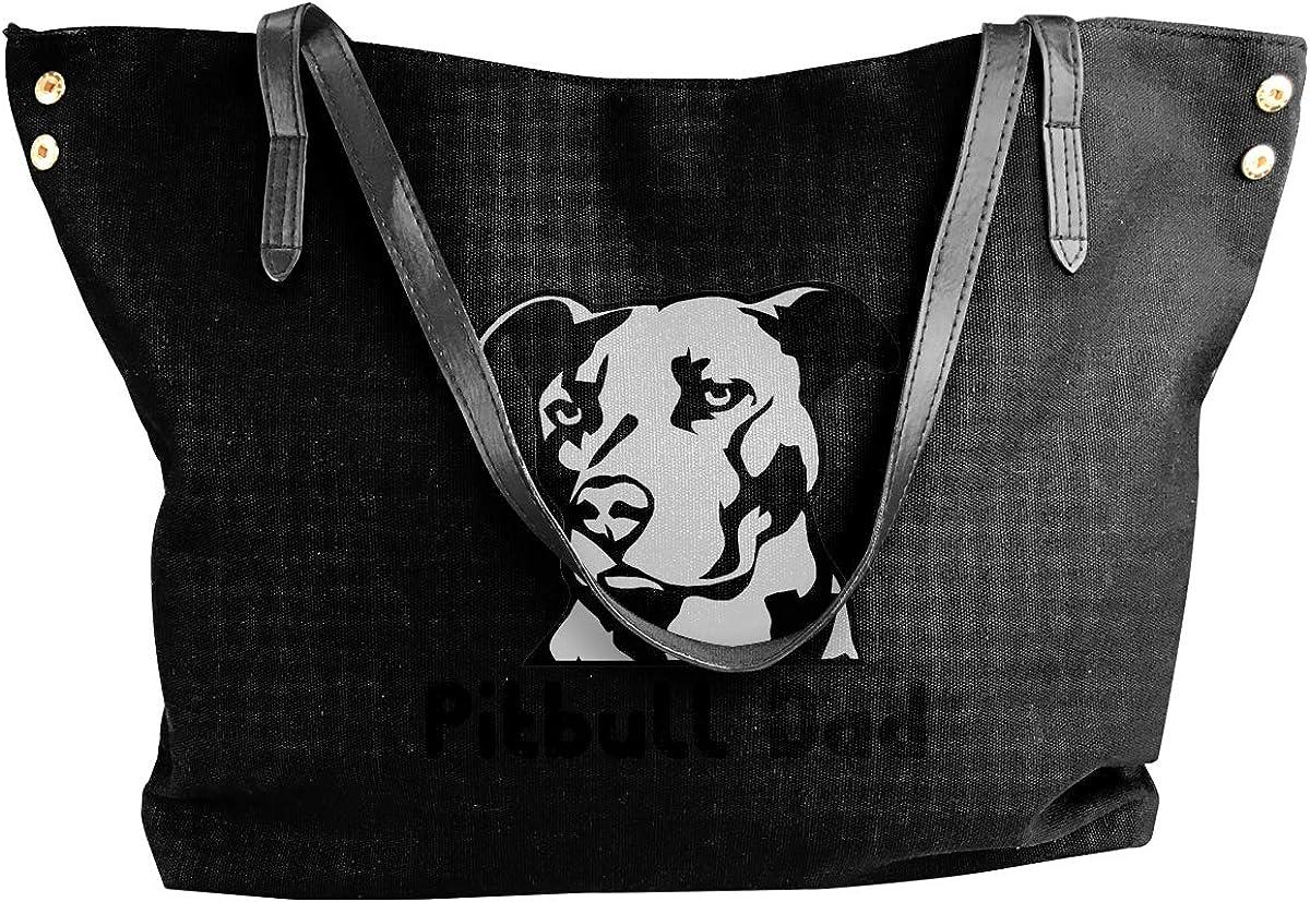 Dad The Myth Legend Womens Canvas Hobo Handbags Shoulder Bag Tote Bag