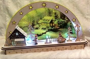 Weihnachtsdeko Fensterbeleuchtung.Schwibbogen Lichterbogen Holz Sehr Ausgefallen 2 Varianten Zur