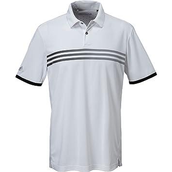 adidas Golf 3 Rayas gradiente de Hombre Climachill Polo, Rojo ...
