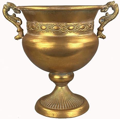 Pokal Amphoren Vase Blumenvase Antik Metall Vintage Deko Retro Design LN18-7