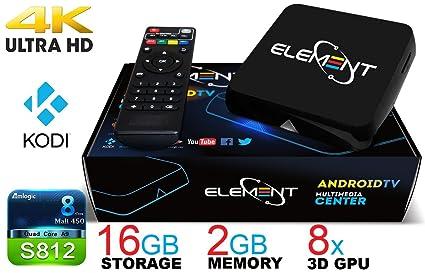 Element Ti4 Quad Core Android TV Box AmLogic S812 Streaming Media