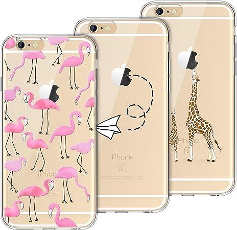 Yokata [3 Pack Cover per iPhone 6 Cover iPhone 6s Custodia Silicone Trasparenti con Disegni Case Caso Gomma TPU Morbido Ultra Slim Antiurto Protettiva ...