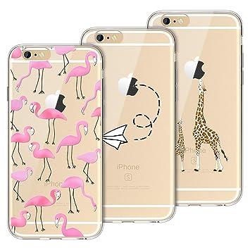 Yokata Funda para iPhone 6 Plus iPhone 6s Plus Carcasa Silicona Transparente Ultra Fina TPU Gel Bumper Protección Anti-Arañazos Con Dibujos Case Cover ...