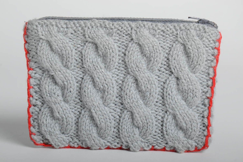 Neceser artesanal tejido con dos agujas accesorio de moda regalo para mujer: Amazon.es: Hogar