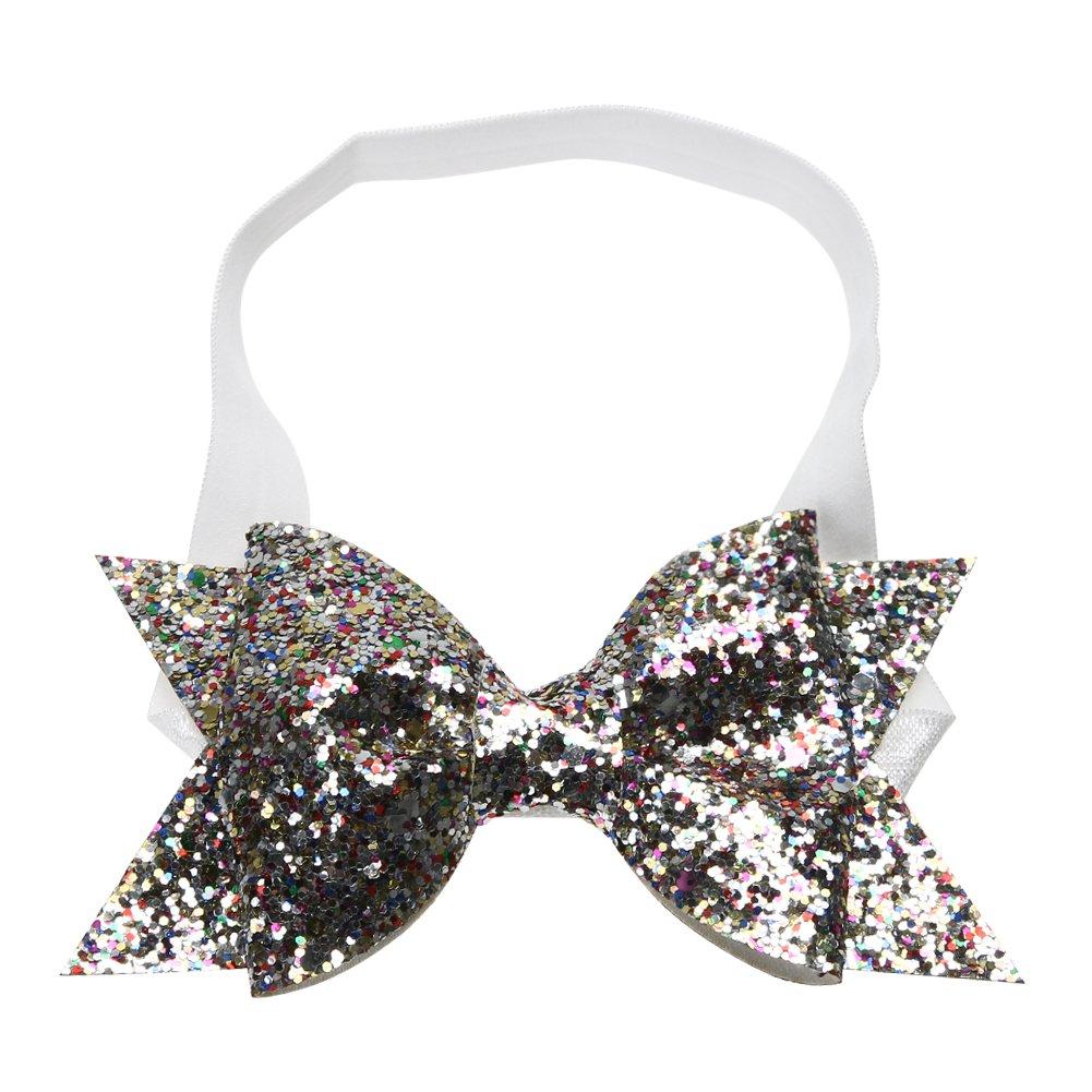 759998961 Amazon.com  Baby Girls Glitter Sequins Hairband Bow Headband Hair ...