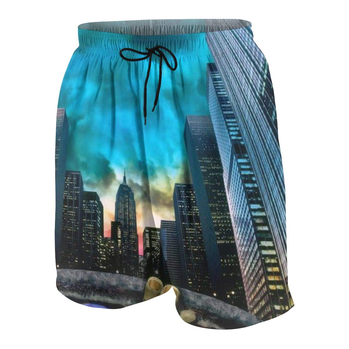 KSFKE TMNT Teens Beach Board Shorts Quick Dry Bathing Suits Swim Trunks Shorts
