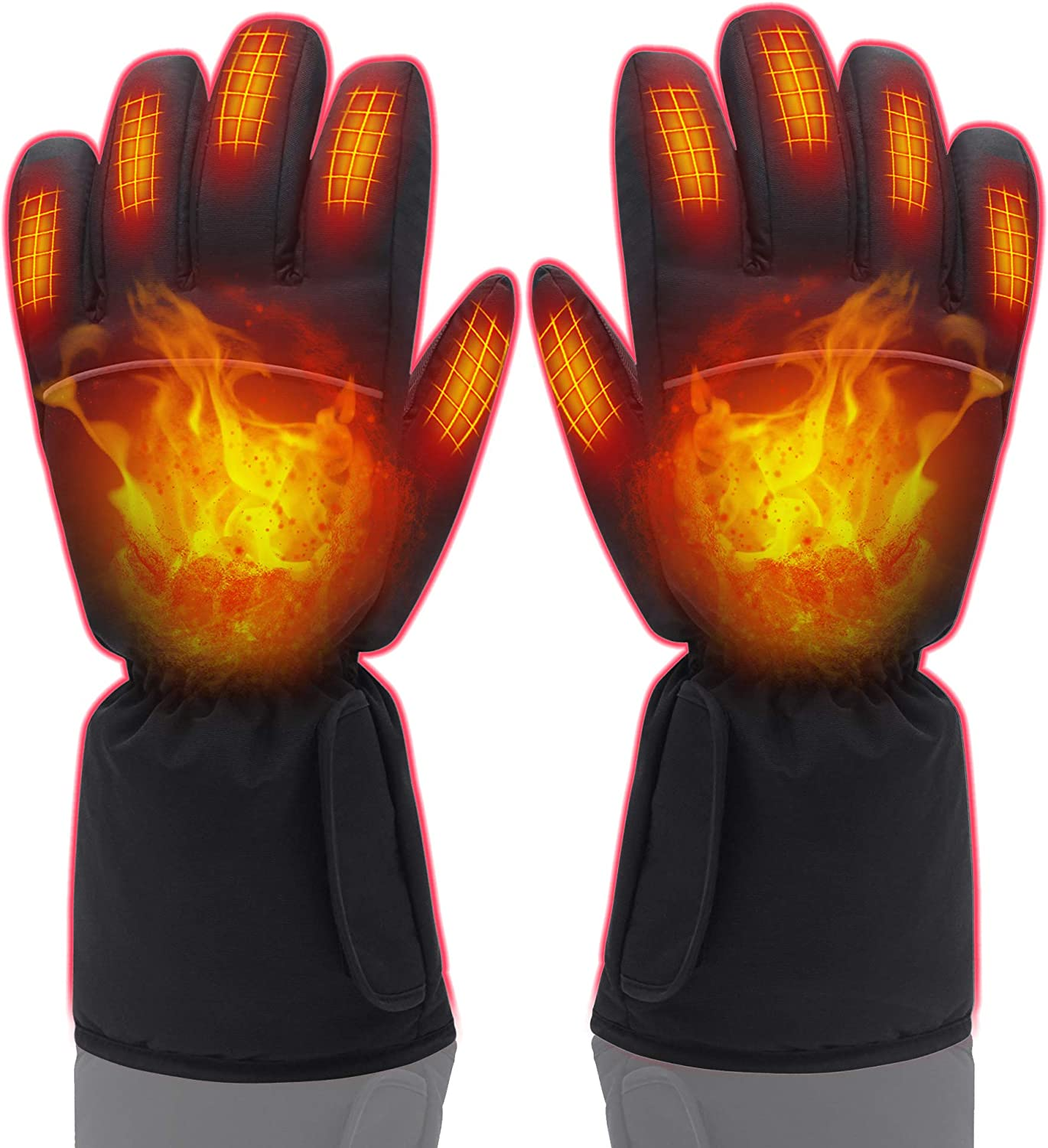 Woman Men Heated Gloves, Electric Heating Gloves Rechargeable Winter Hand Warmers Gloves for Chronically Cold HandWoman Men Electric Heated Gloves,Hand Warmers Gloves for Chronically Cold Hand