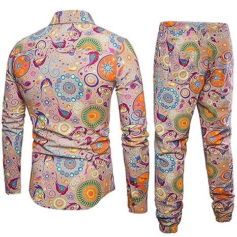 Amazon.com: Donci - Camisas de lino y algodón para hombre ...