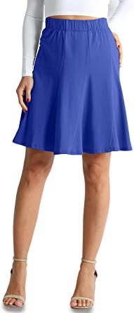 Ladies blue skirt of many pieces made of cotton with elastane.