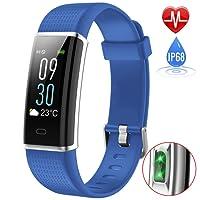 iPosible Fitness Tracker, Orologio Fitness Impermeabile IP68 Braccialetto Fitness Cardiofrequenzimetro da Polso Contapassi Smart Watch Pedometro GPS per Donna Uomo Bambini per iPhone Android iOS