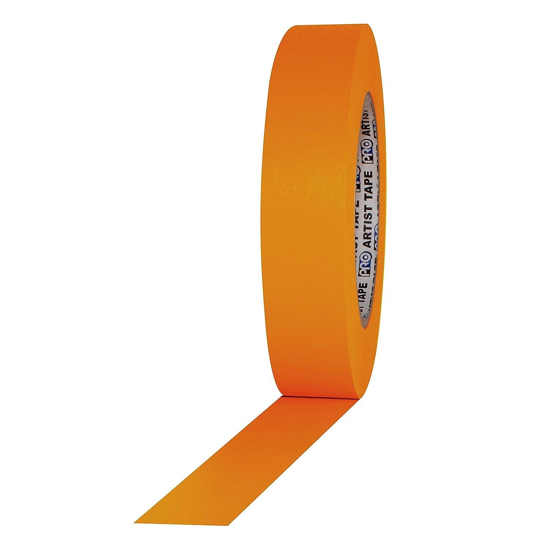 "ProTapes Artist Tape Flatback Printable Paper Boardor Console Tape, 60 yds Length x 1"" Width, Orange (Pack of 1)"