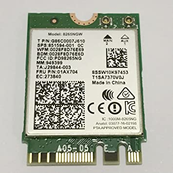 ac 8265. dual band wireless- ac 8265 8265ac ngff wifi card use for intel ac8265 ac g