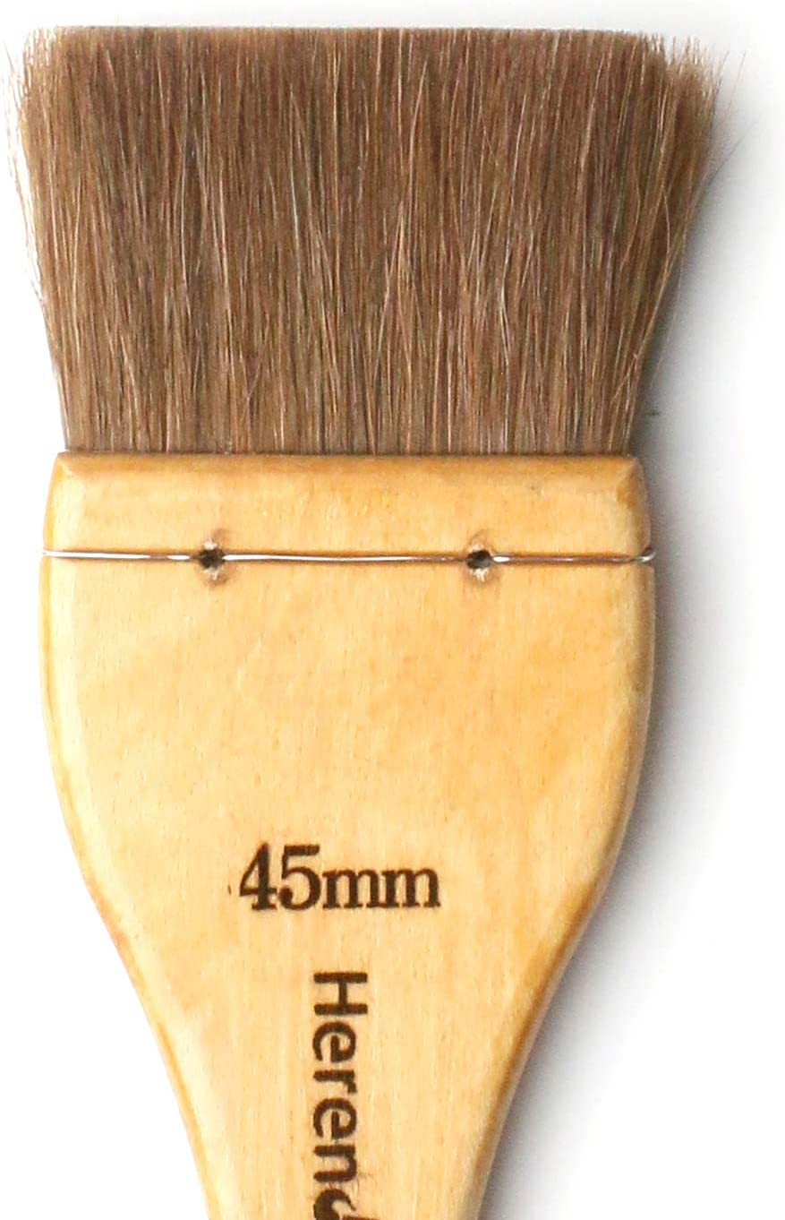 Acrylic with Horse Hair//Hake Flat Paintbrush Herend Brush Series F-1725 for Watercolor Oilcolor 60mm