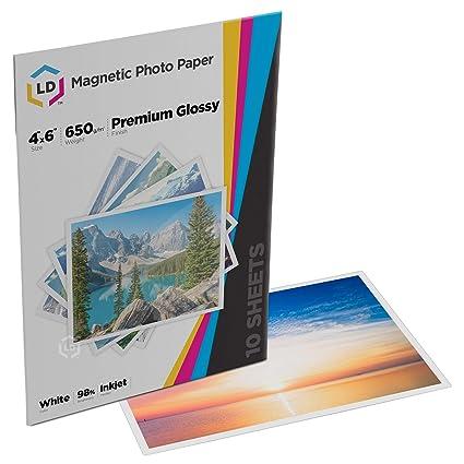 amazon com ld glossy inkjet magnetic photo paper 4x6 10 sheets