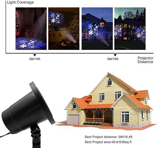Proyector LED de copo de nieve, para interior y exterior, Navidad ...