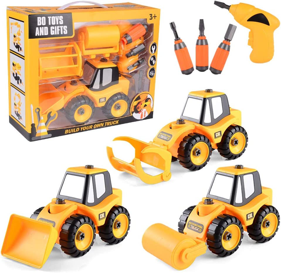 3 In 1 Take Apart Toy W Electric Drill /& Screwdriver Stem Learning Building Vehi