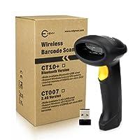 Esky® ES012 2.4G Laser Barcode Scanner Lecteur de code à barres sans fil automatique pour Windows (32 bits Décodeur, 1500mAh batterie rechargeable, 256K mémoire de stockage)