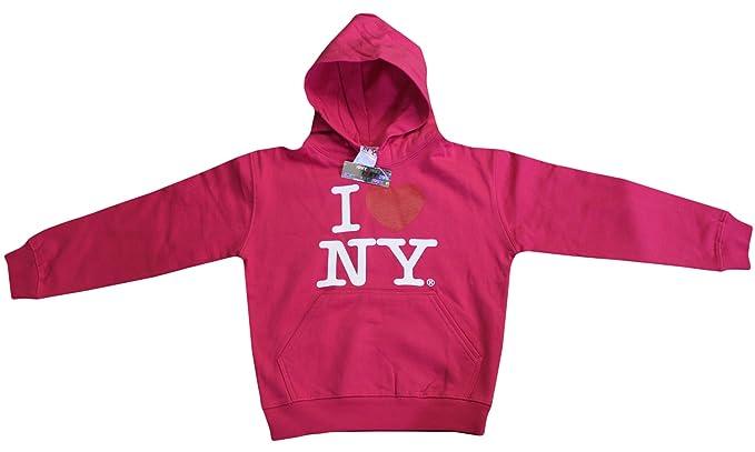 I Love Ny de Nueva York sudadera con capucha de impresión corazón sudadera rosa: Amazon.es: Ropa y accesorios