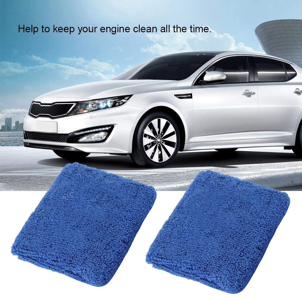 1 Cuque 1 Pair of Fuel Oil Tank Cover Socks Fabric Car Reservoir Brake Clutch Oil Tank Cover Cap Blue
