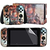 eXtremeRate Back Plate for NS Switch Console, NS Joycon Handheld Controller Housing with Full Set Buttons, DIY Replacement Shell for NS Switch Hot Girl