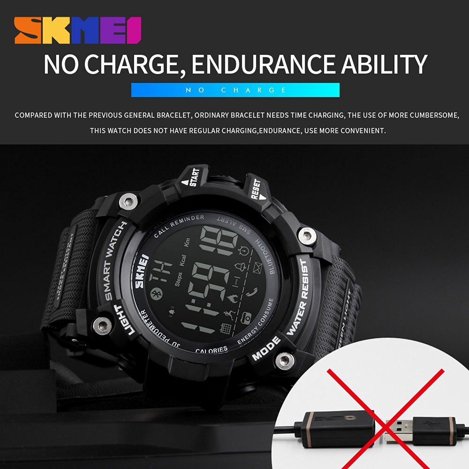 Amazon.com: Mastop Men Outdoor Sport Smart Watch Fashion Digital Watches Fitness Tracker Bluetooth iOS 4.0 Android Waterproof Wristwatch: Watches