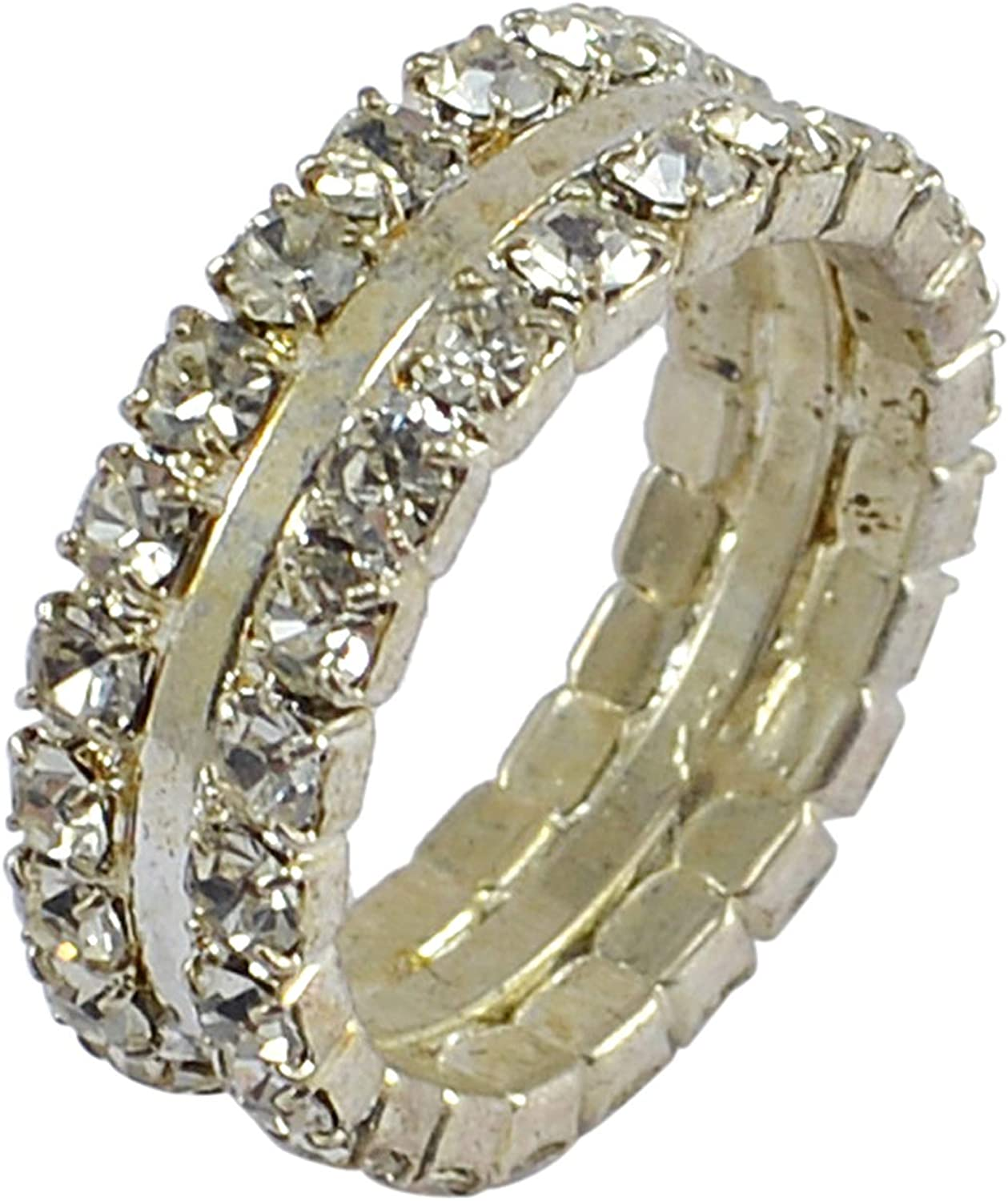 Silvestoo Jaipur Cubic Zircon 925 Silver Plated Ring Size 6.25 PG-128303