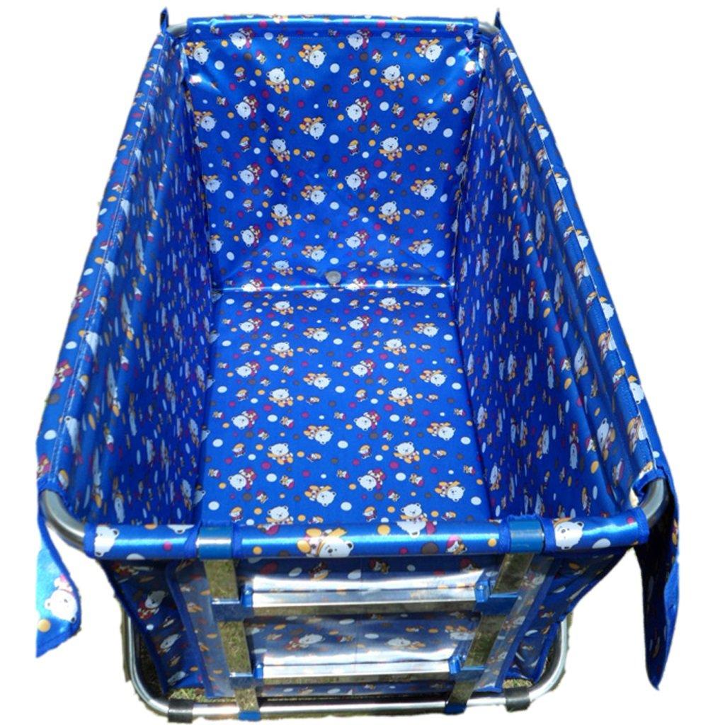 Couleur : A lyy Luxe Double Non-gonflable Baignoire Pliante Baignoire Pliable Baignoire De Baignoire Adulte Bain Vert Bleu