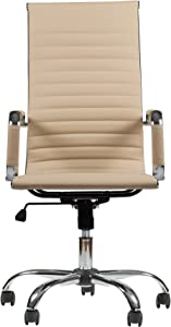 Winport Furniture W Office Chair, Cream