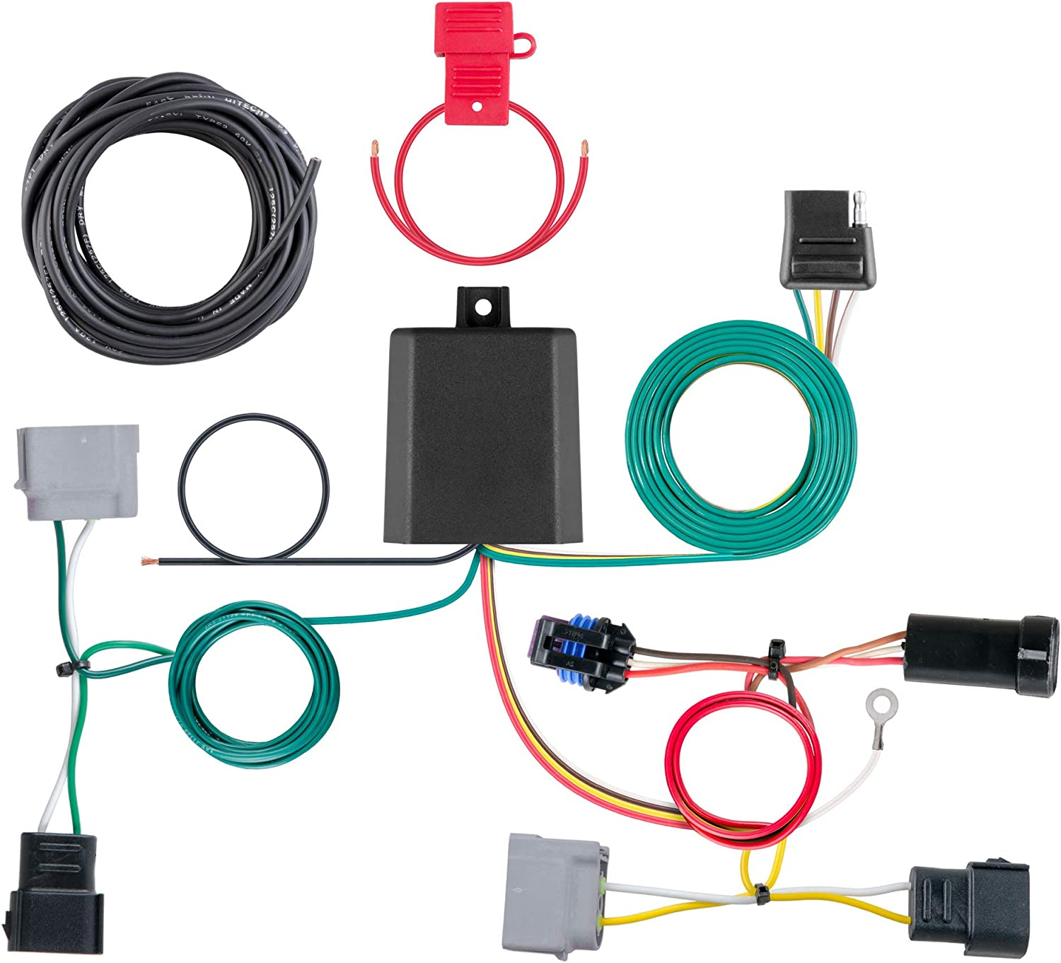 amazon.com: curt 56330 vehicle-side custom 4-pin trailer wiring harness,  select dodge journey with led taillights: automotive  amazon.com