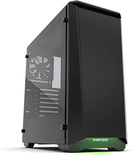 "Phanteks PH-EC416PTG_BK Eclipse P400 Steel ATX Mid Tower Case Satin Black,""Tempered Glass"" Edition Cases"