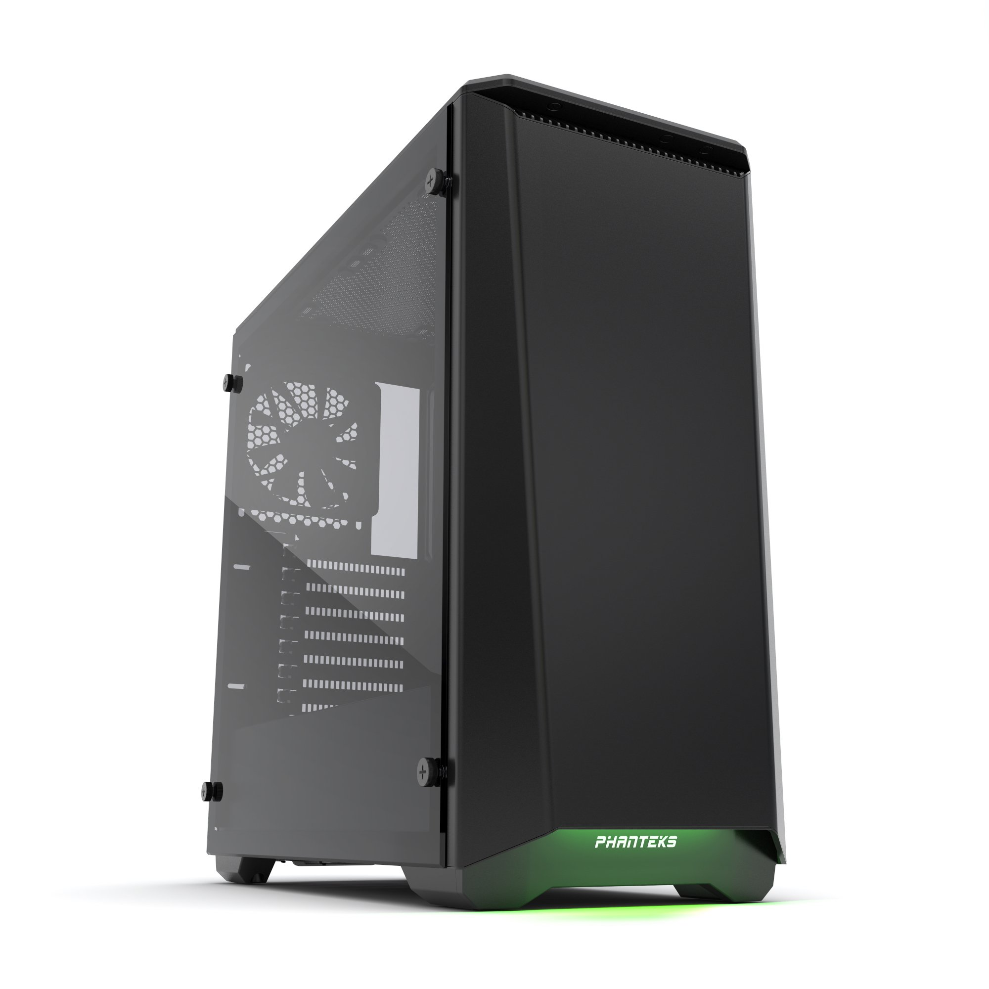 Phanteks PH-EC416PTG_BK Eclipse P400 Steel ATX Mid Tower Case Satin Black,''Tempered Glass'' Edition Cases
