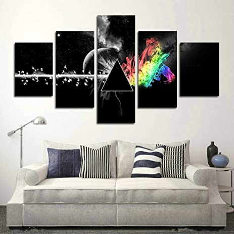 JuYi Art Piece Printed Pink Floyd Rock Music Canvas Painting For Living Room Home Decor