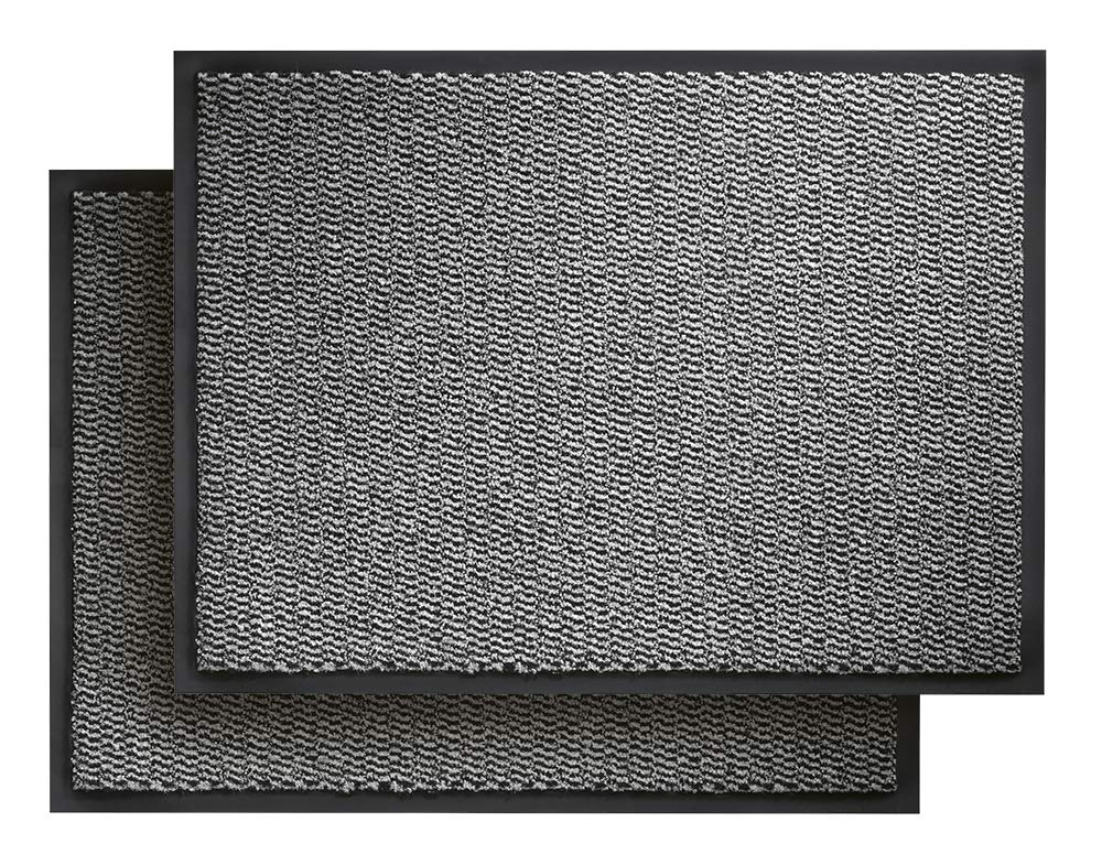 CarFashion 282506 Pur Stardust Sparpack Schmutzfangmatte 80x120 cm   Sauberlaufmatte   Fussmatte mit Trittrand   Türmatte  Fußabtreter   Eingangsmatte  für Eingang und Ausgang   Innen   Indoor