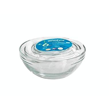 Anchor Hocking 6-Piece Glass Prep Bowl Set