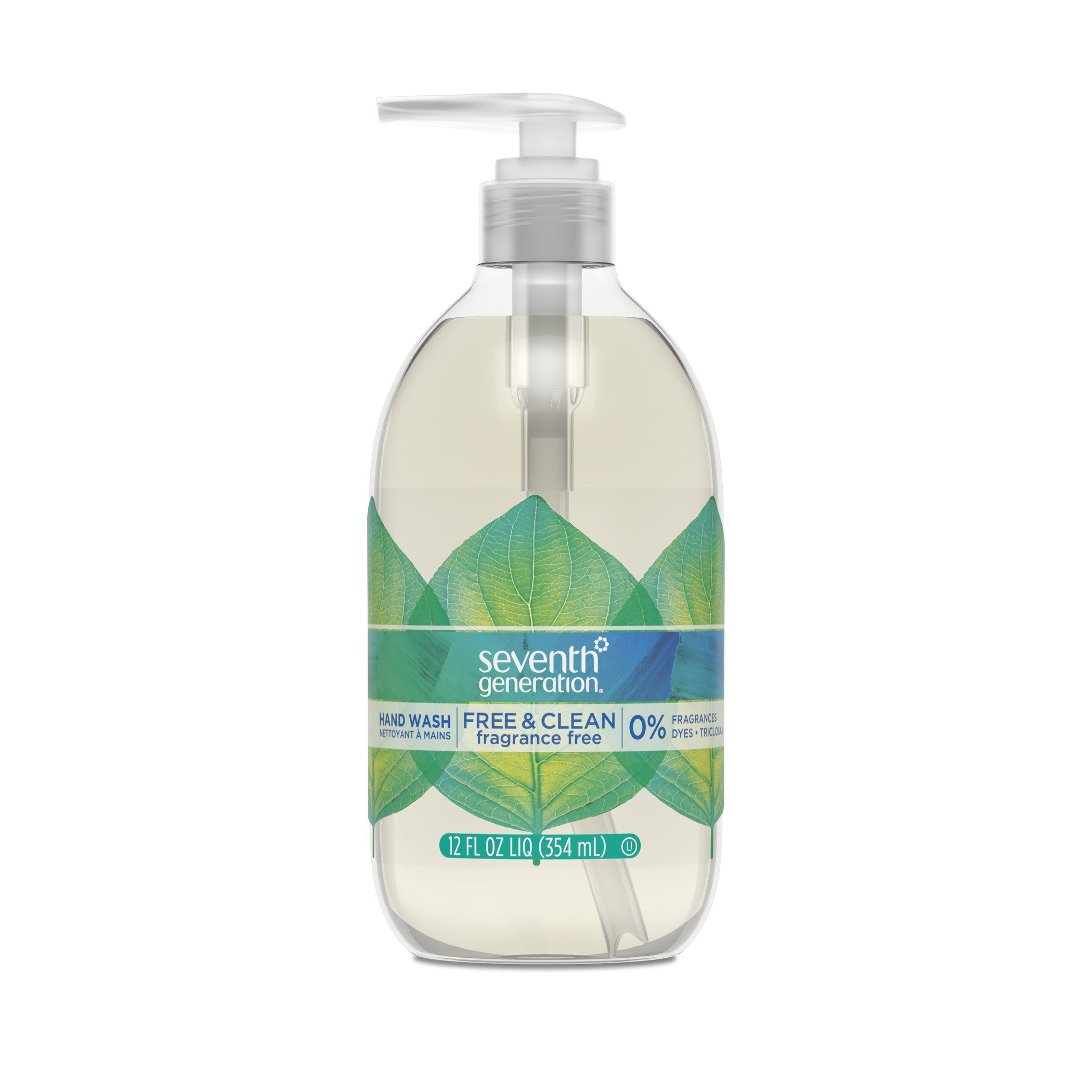 Seventh Generation Hand Wash Soap, Free & Clean Unscented, 12 Fl Oz, (Pack of 8) (Pack May Vary)