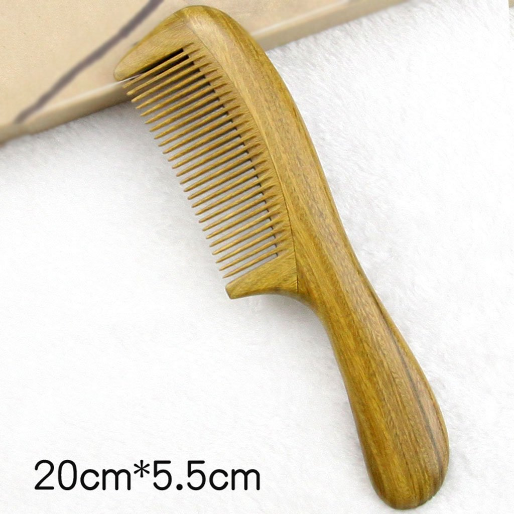 Wooden combs Wood Comb Green Sandalwood Wide Teeth Along Hair Comb ( Size : A-19.5CM*5.5CM ) Anna