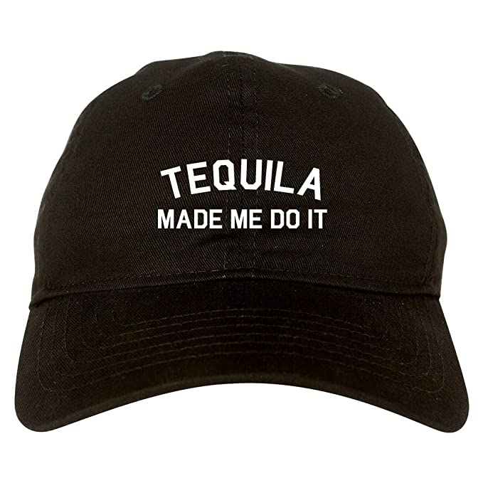 73f7e49c219 FASHIONISGREAT Tequila Made Me Do It Funny Vacation Dad Hat Baseball Cap  Black