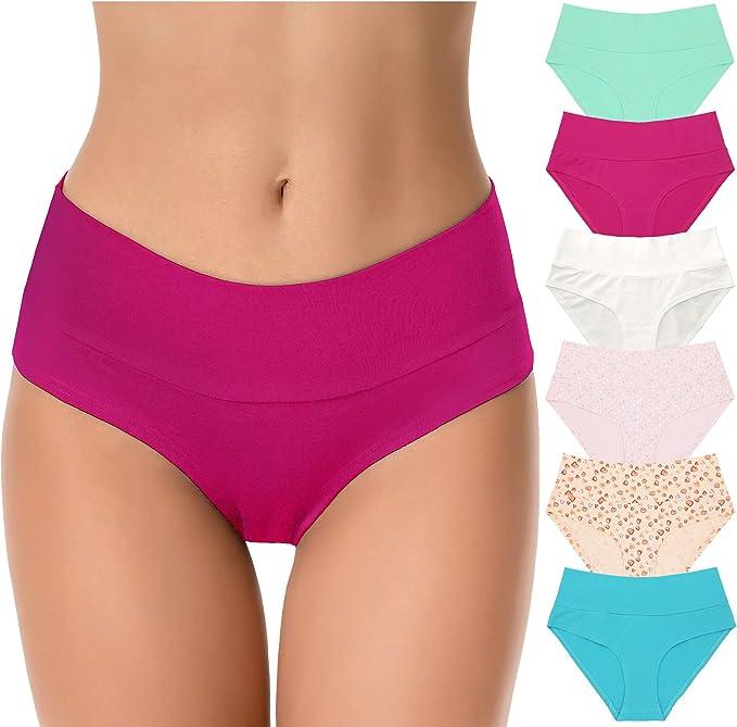Curve Muse Calzoncillos de algodón de Talla Grande para Mujer ...