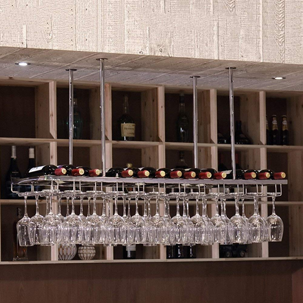 120cm35cm Red Wine Shelf Ceiling Wine Decoration Restaurant Shop Home Bar Application - Adjustable Height 30-60cm (Size   150cm35cm) (Size   120cm35cm)
