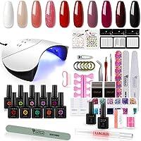 Saint-Acior UV-nagellakset 36W UV LED-nagellampstartset 10x gelvernis voor nagelontwerpgel UV-lak UV-gellak nagellakset