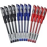 NUOLUX Inchiostro gel Penne, inchiostro nero, classico stile 0,5 mm 12 pz (come illustrato)