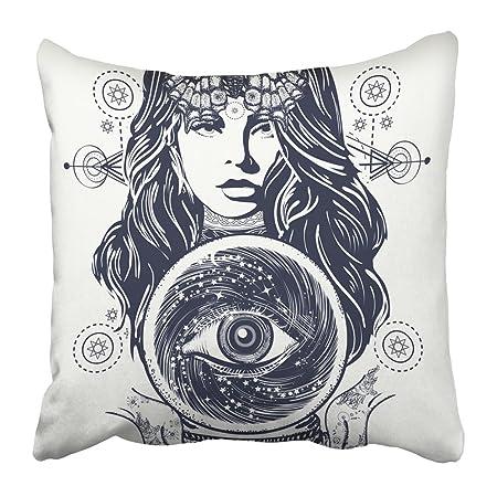 Emvency fundas de almohada con diseño de tatuaje mágico de la ...