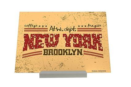 Soporte Fotografias Deco Ciudad Brooklyn Nueva York Letrero Decoración