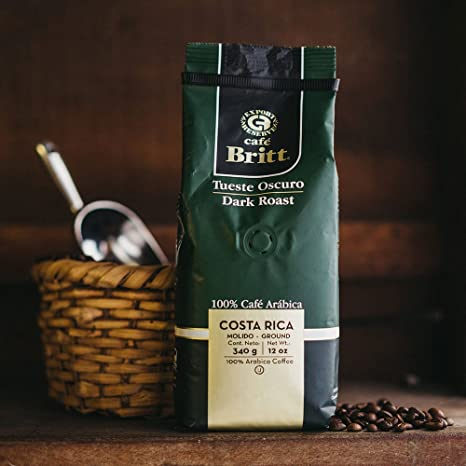Amazon Com Cafe Britt Costa Rica Dark Roast Ground Coffee  Ounce Bag Costa Rican Coffee Grocery Gourmet Food