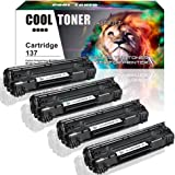 Cool Toner 4 Pack Cartridge 137 Toner Cartridge Replacement For Canon Cartridge 137 Crg137 Imageclass MF229Dw MF227Dw MF216N MF247Dw MF212W MF249Dw MF244Dw MF236N Lbp151dw MF217W Printer Ink Cartridge