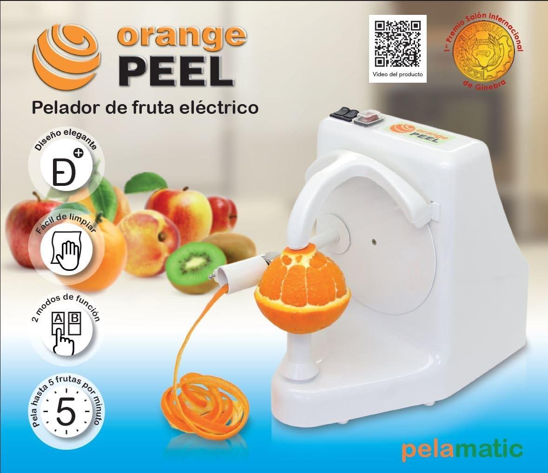 Pelamatic Orange Peel Pela frutas eléctrico domestico, 24 W, plástico, Blanco