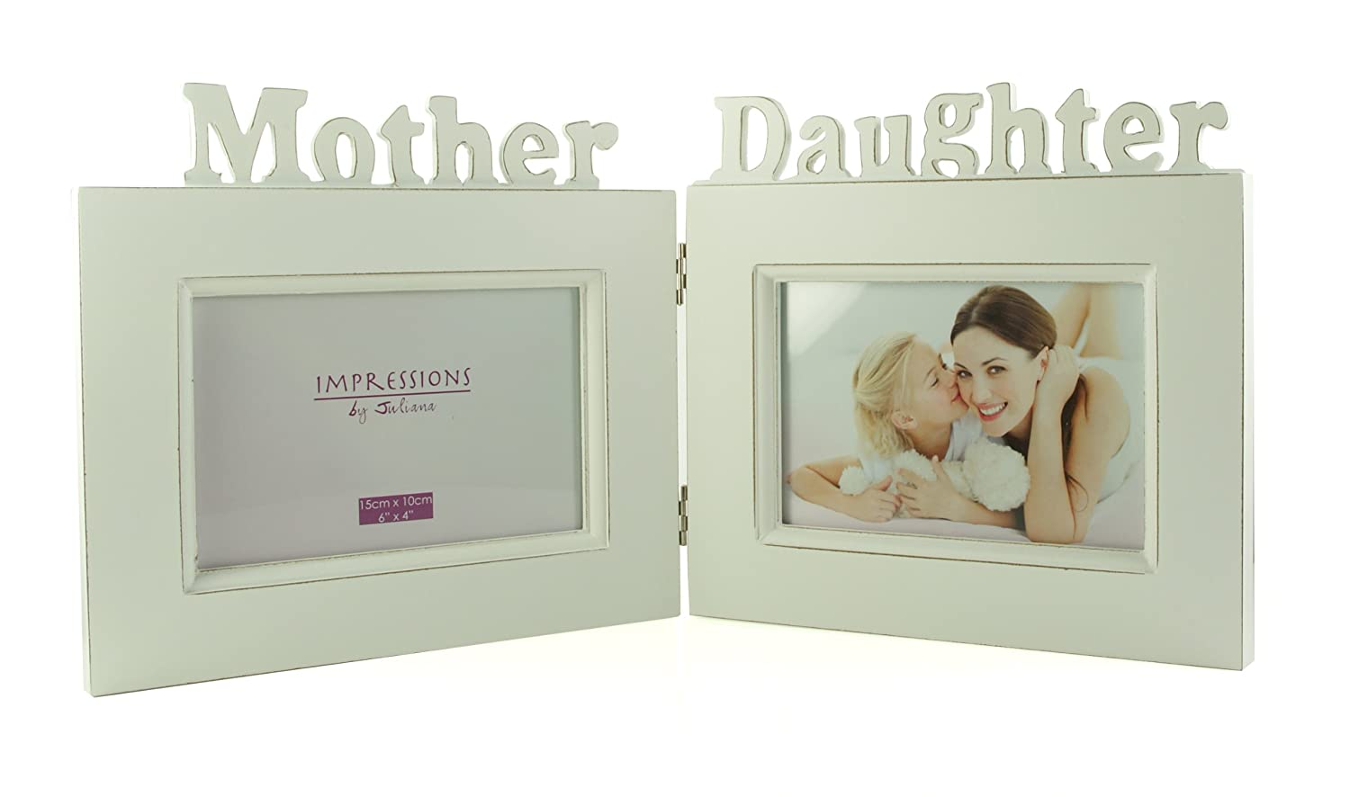 Vintage Shabby Chic Mum & Daughter Photo Frame Gift: Amazon.co.uk ...