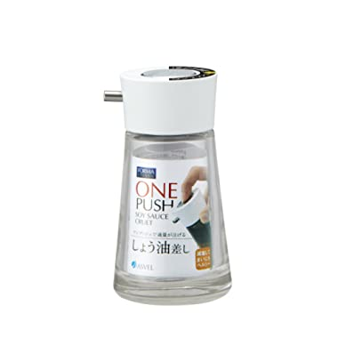 Dripless Glass Soy Sauce Dispenser Pot (White Cap)